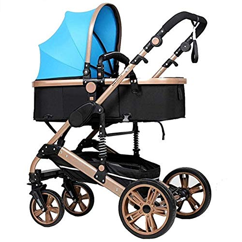 Fantastic Prices! Byrhgood Stroller, High Landscape Stroller Can Sit and Fold Two-Way Four-Wheel Sho...