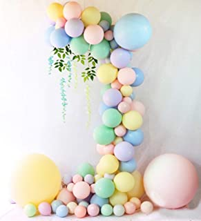 Beaumode DIY Pastel Balloons Garland Kit 104 pcs Assorted Macaron Candy Colored Latex Party Balloons Arch for Wedding Graduation Kids Birthday Unicorn Party Christmas Baby Shower Party Supplies