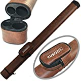 CUESOUL 1x1 Hard Pool Cue Billiard Stick Carrying,Brown Cue Case 1x1 Holds 1 Butt and 1 Shaft