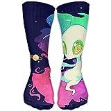 Tyueu Alien Smoking Men Women's Casual Athletic Stoking 30CM Crew Long Socks Lange Socken