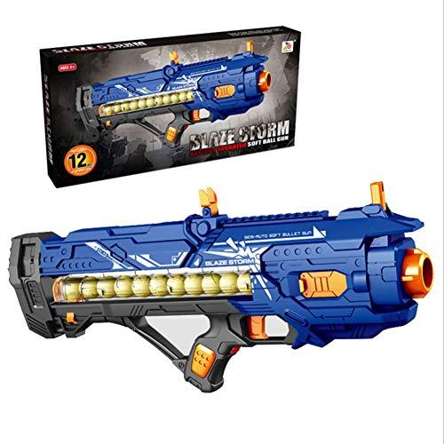 Pistola de juguete para niños, las balas de PU no lastiman a las personas, la intensidad de disparo es razonable (muy segura), 12 rondas de balas suaves (gran capacidad), adecuadas para niños, adultos