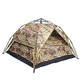 AIBOOSTPRO Tente pop-up légère pour 3 personnes, tente de camouflage à double portes, double couche, étanche, pour pique-nique, camping et autres activités de loisirs en plein air