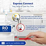 Express Water RO5DX Reverse Osmosis Filtration NSF Certified 5 Stage RO System with Faucet and Tank – Under Sink Water… 12 Reverse Osmosis Water Filter: Experience what water should taste like with the Express Water reverse osmosis water filtration system removing up to 99.99% of Lead, Chlorine, Fluoride, Nitrates, Calcium, Arsenic, and more. Water Purification System: Drink the healthiest water on Earth. All our water filters are specially engineered to work together, producing the safest and best tasting water you'll ever drink Under Sink Water Filter: Don't waste money on professional installation. Express Water's quick and easy-to-understand design means you can install and understand everything about your new water filtration system