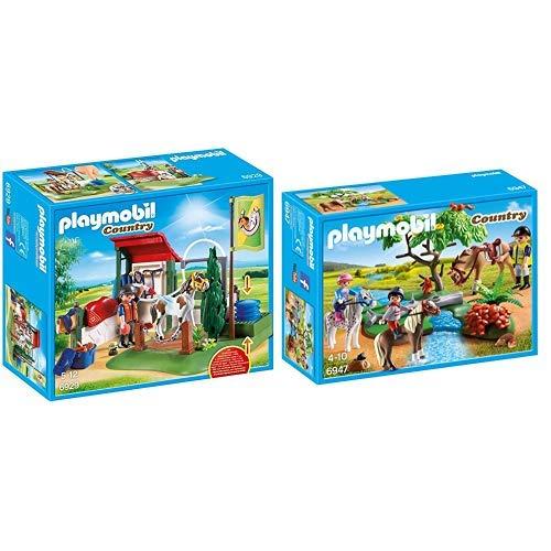 Playmobil 6929 - Pferde-waschplatz &  6947 - Fröhlicher Ausritt