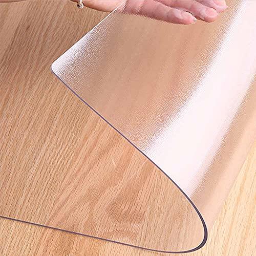 LJFYXZ Alfombrilla de Silla para Piso de Madera Dura Protector de Alfombra Plástico Transparente 1,5 mm de Espesor Antideslizante Impermeable Corredor de Alfombra Se Puede Cortar(Size:140x180cm)