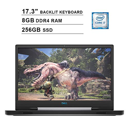 2019 Dell G7 17 7790 17.3 Inch FHD Gaming Laptop (9th Gen Intel 6-Core i7-9750H up to 4.50 GHz, 8GB DDR4 RAM, 256GB SSD, NVIDIA GeForce RTX 2060, RGB Backlit Keyboard, Windows 10) (Abyss Gray)