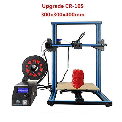 Creality CR-10S Imprimante 3D (Version Améliorée) avec Kit de Bricolage avec 1.75mm Filament / 0.4mm Buse/Vis sans Fin Double/Lit chauffé/Filament de Test Haute Précision