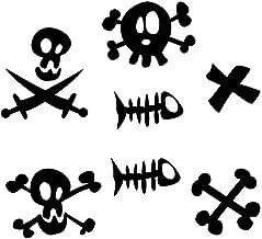 Sticker piraat borstel doodshoofden, vis en kruis ...