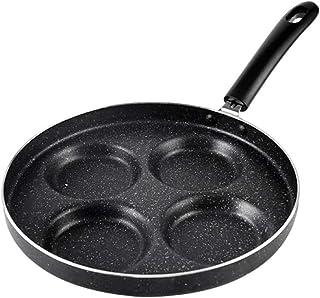 CHARON stekpanna äggpanna pannor stekpanna ögonpanna hålpanna panna panna 4 spets, svart