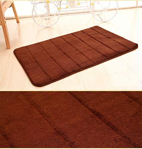 Home Bath Mat Coral Fleece Bathroom Carpet Water Absorption Non-slip Memory Foam Absorbent Washable Rug Toilet Floor Mat - G,A4n Federation,400MMx600MM