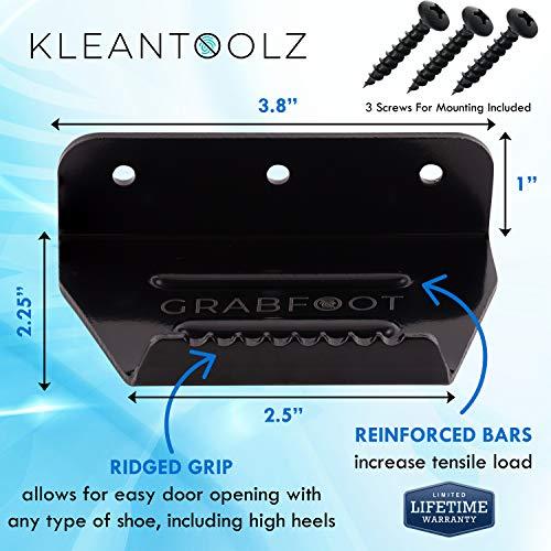 Kleantoolz Grabfoot Commercial Door Opener Tool. Medium Handsfree Door Foot Pull for Big Entry...