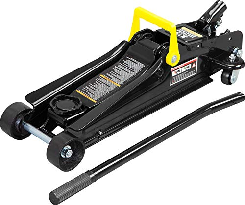 Torin TORT825051 Hydraulic Low Profile Trolley Service/Floor Jack with Single Piston Quick Lift Pump, 2.5 Ton (5,000 lb) Capacity, Black
