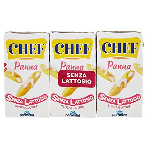 Parmalat Chef Panna da Cucina senza Lattosio, 3 x 125ml