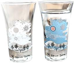 丸モ高木陶器 冷感雪結晶 グラス天開ペアセット 温度で絵柄が変化する 雪結晶 グラスペア 贈り物 温度 変化 日本酒 乾杯 ギフト プレゼント お祝い 冬