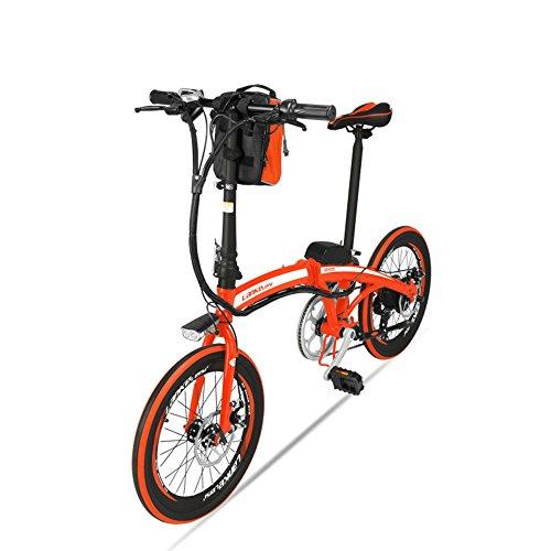 JPFCAK, Eléctrico, Bicicleta, Plegamiento, Montaña, Bicicleta, 20 Pulgadas / 48v12ah, Coche Eléctrico...