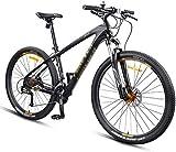 Bicicletas de montaña CHHD, bicicletas de montaña de 27.5 pulgadas, bicicleta de montaña de doble suspensión con marco de fibra de carbono, frenos de disco bicicleta de montaña unisex todo terreno, do