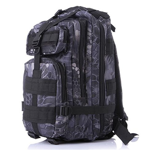 Outdoor Small Capacity Travel Camping Camouflage Bag Mountaineering Hiking Backpack (python)