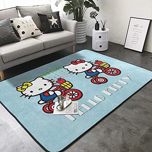 Balance-Life Tapis de Chambre de bébé à Motifs de Dessin animé Doux Tapis de Zone Hello Kitty Mignon pour Enfants Chambre décoration de la Maison Tapis de Chambre de bébé