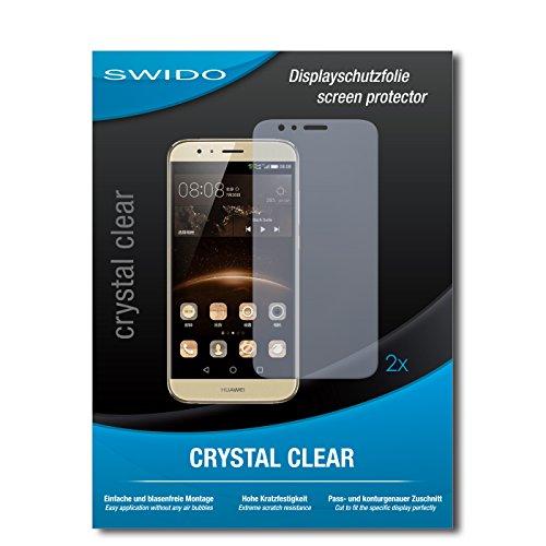 SWIDO Schutzfolie für Huawei G8 [2 Stück] Kristall-Klar, Hoher Festigkeitgrad, Schutz vor Öl, Staub & Kratzer/Glasfolie, Bildschirmschutz, Bildschirmschutzfolie, Panzerglas-Folie