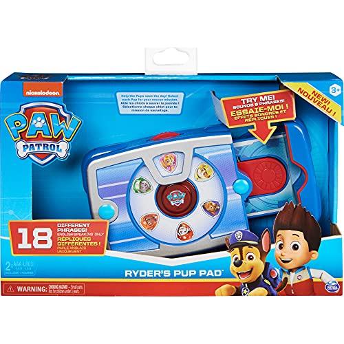 PAW Patrol 6058774 Ryders interaktives Paw Pad mit 18 Geräuschen und Sätzen, für Kinder ab 3 Jahren