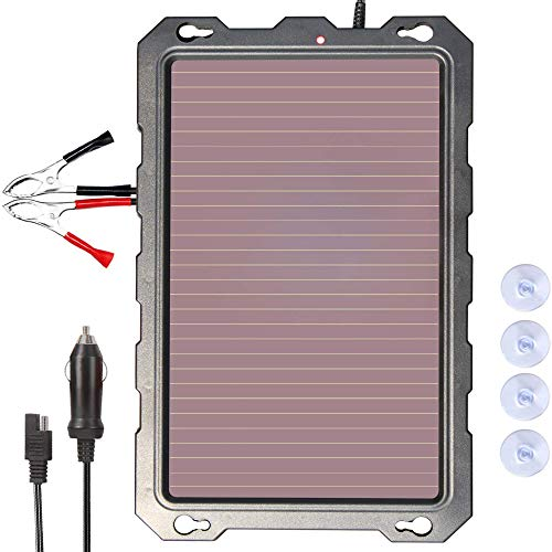 Solar Car Battery Trickle Charger, 12V 3.3W Solar Battery Charger Car, Waterproof Portable Amorphous Solar Panel For Automotive, Motorcycle, Boat, Atv,Marine, RV, Trailer, Powersports, Snowmobile, etc