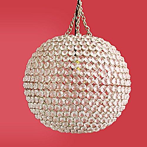 Hashcart Modern Flush Mount Ceiling Lamp Crystal Ball Fixture Chandelier Mini Pendant for Hallway | Bar | Dining Room | Bedroom & Kitchen
