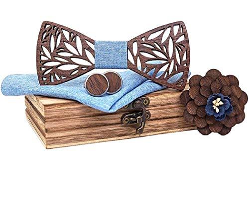 BeForBio Noeud papillon bois fait main, chic et tendance,...
