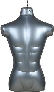 Inflatable Male Half Body Mannequin Torso Top Shirt Dress Form Dummy Model Display