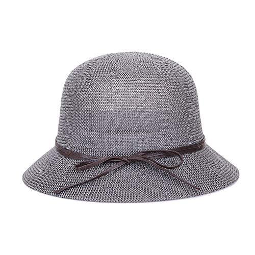 Sombrero de Verano de Paja para Mujer Sombrero de Sol Sombrero Cloché
