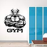 Fuerte Músculo Toro Culturista Hércules Bestia Modelo GYM Fitness Vinilo Etiqueta de la pared Calcomanía Dormitorio Sala de entrenamiento Bodybuilding Club Decoración para el hogar Mural