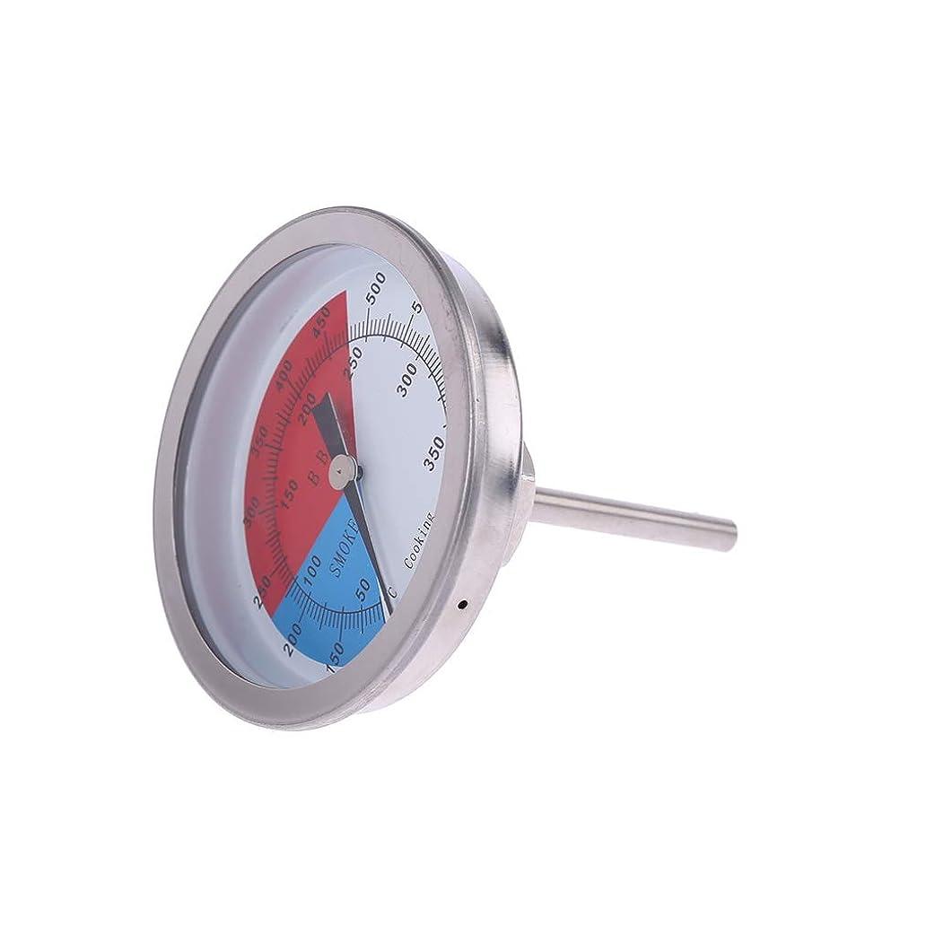 旅客究極のヨーロッパBiuuu ステンレス鋼バーベキュー温度計喫煙グリル温度測定50-350℃大型ダイヤルバーベキューゲージ
