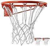 BlesMaller 2 PCS Professional Filet de Basket Ball en Nylon Durable Multicolore(12 cerceaux),Convient pour Panier de Basket Intérieur ou Extérieur (Blanc)