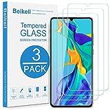 Beikell Vetro Temperato per Huawei P30, [3 Pezzi] Pellicola Protettiva Protezione Schermo per Huawei P30 - Durezza 9H, Anti graffio, Senza Bolle, Alta Definizione, Facile da Pulire