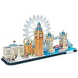 World Brands London, Puzzles para Adultos y Niños, Maquetas para Montar, Rompecabezas 3D, Regalos Divertidos, Cultura, Viajar Desde Casa, Multicolor (CubicFun MC253H)
