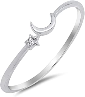 star and crescent ring