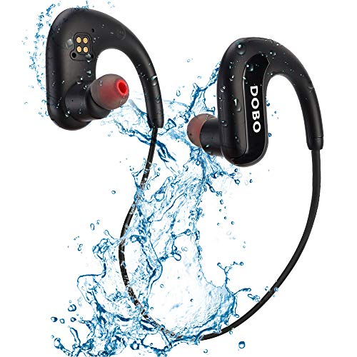 DOBO Waterproof Headphones for Swimming,IPX8 Waterproof 8GB MP3 Player Sports Swimming Headphones Wireless Bluetooth 5.0 Earbuds with Noise Cancelling MIC for Sport,Swimming,Running,Gym,Workout