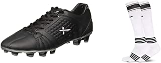 Vector X Velocity Football Shoes, Adult 4 UK (Black/Silver)