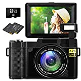Digital Camera Vlogging Camera 30MP Full HD 2.7K Vlog Camera with...