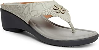 Butterflies Steps Latest Collection, Comfortable Wedges Sandal for Women's & Girl's (Grey) (GHS-0078GY)