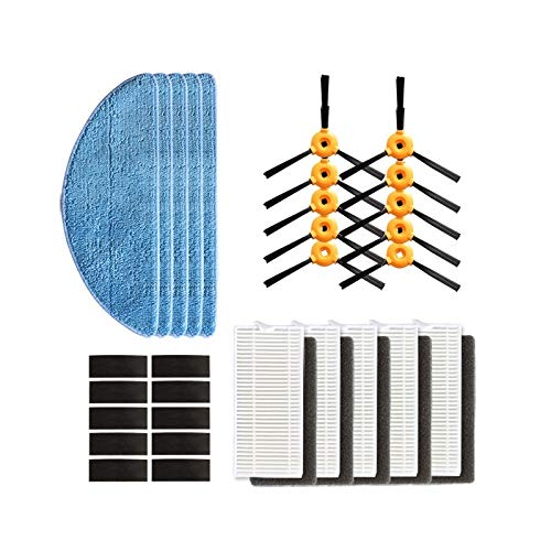 Best Buy! Vacuum Cleaner Parts Side Brush HEPA Filter Mop Cloth for Ecovacs Deebot 600 601 605 710 7...
