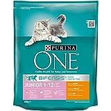 Purina ONE BIFENSIS Junior Katzentrockenfutter: reich an Huhn und Vollkorn-Getreide I nach Muttermilch-Entwöhnung I 6er Pack (6 x 800 g)