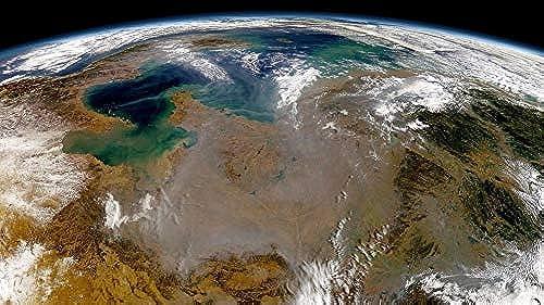 LIWeißY DIY Digital Painting Set,  artige Sicht Auf Die Erde Aus Dem Weltraum, Malen Nach Zahlen Für Wohnkultur-Geschenke, Gerahmt, 50x60cm