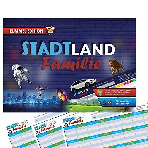 Stadt Land Fluss - 2 Blöcke - 2 x Gesellschaftsspiel - Für Kinder, Jugendliche und die Familie - Eummel Edition