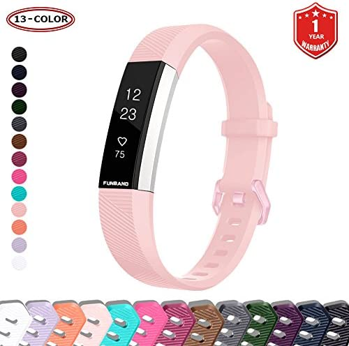 FunBand for Fitbit Alta HR and Fitbit Alta Strap Bands Classic Soft Silicone Sport Adjustable product image