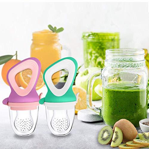 Oladwolf Fruchtsauger für Baby & Kleinkind, Silikon Schätzchen Schnuller für Obst und Gemüse Brei Beikost, BPA frei, 5PCS Professionelles Baby-Beißring Sauger in 3 Größen - 6