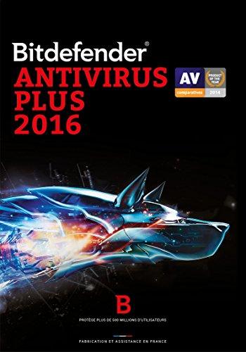 Bitdefender Antivirus Plus 2016 – 3 postes – 1 an [Téléchargement PC]