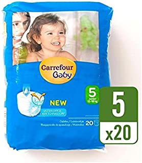 Carrefour Baby Ultra Dry Pull On Size 5 Carry Pack 20 per pack - Pack of 4