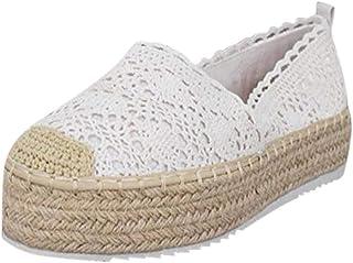 comprar comparacion YWLINK Plataforma Hueca para Mujer Zapatos Casuales Color SóLido Transpirable CuñA Alpargatas Antideslizante CóModo Zapato...