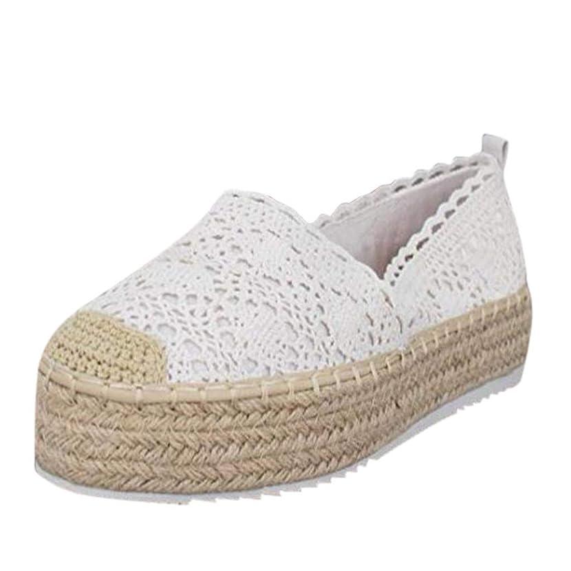 Dressin Women's Espadrilles Platform Shoes Ladies Slip-On Sneaker Handmade Womens Espadrille Flats