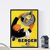 Nacnic Vintage Poster Epoca Vino Francese Berger 45, 1935 Formato A3...